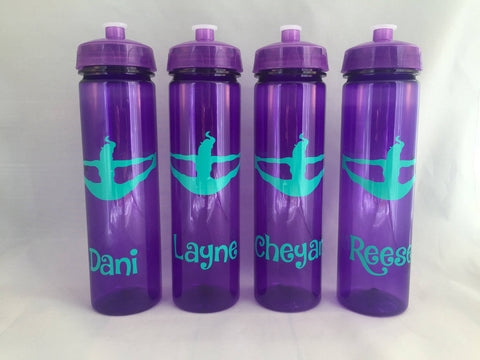 Water bottle party favor, gymnastics cheer Dance  Cheerleader perfect for your team! 24 oz  BPA FREE, party favor