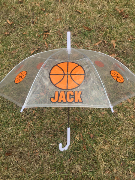 Basketball Sports Monogrammed name umbrella, adult & child size, personalized Umbrella, Monogram Umbrella, spirit team name boy umbrella