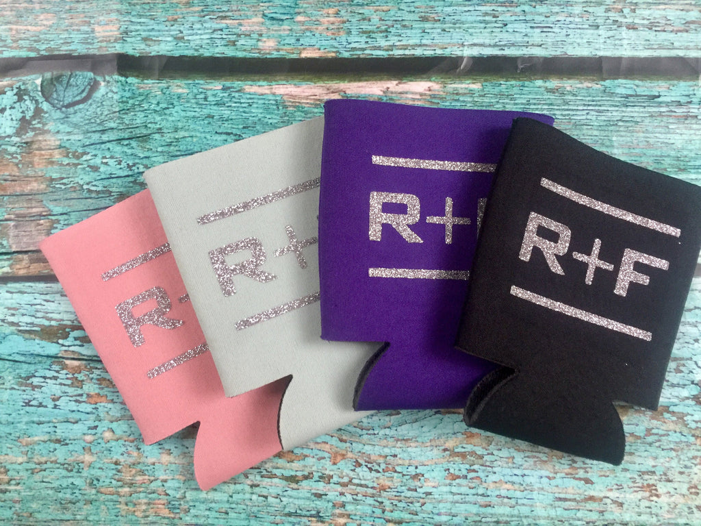 5 Rodan and Fields Glitter Can Coolers, Coolies  RF R+F  Assorted Colors - Rodan Fields PC Perks, Team Name