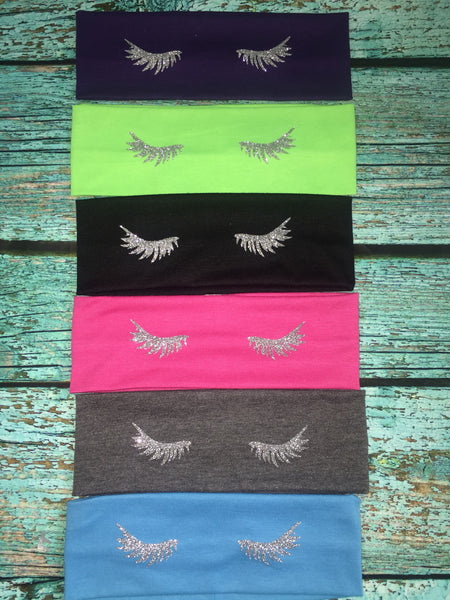 Rodan and Fields Cotton lashes Headband RF R+F  Glitter lashes Assorted Colors - Stretch Elastic Headband Rodan Fields lash boost