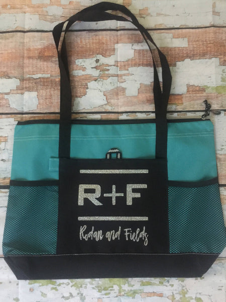Rodan and Fields Tote Bag,  Swag Bag RF R+F  Rodan Fields,  PC gift, Turquoise