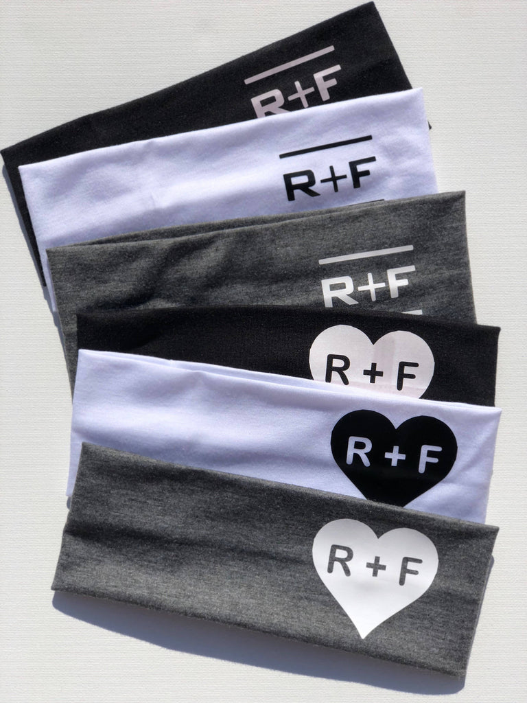 Rodan and Fields headbands set of 10, RF R+F,  headbands, Rodan + Fields headbands, preferred customer gifts, PC perks hearts yoga Hair wrap