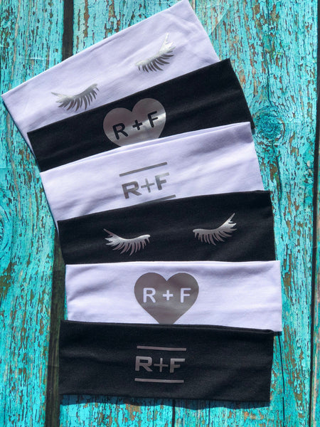 RF, set of 12 Rodan and Fields, Rodan and Fields Cotton Headbands, R+F, Rodan + Fields headbands, preferred customer gifts, PC perks