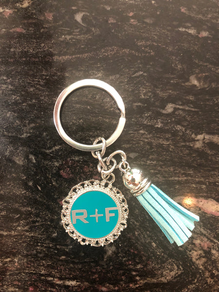 Rodan and Fields logo  tassel keychain , Rodan Fields inspired PC Gift Rodan and Field key chain