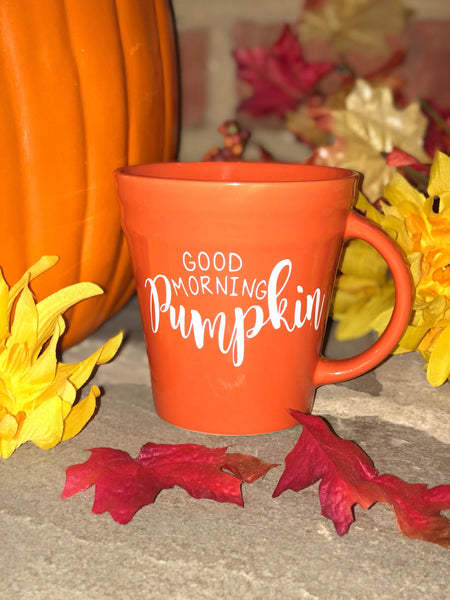 Good Morning Pumpkin Coffee Mug -Fall- PSL- Pumpkin Spice Latte - Autumn