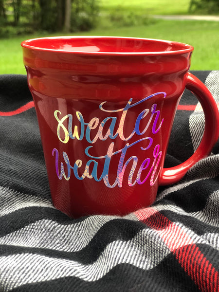 Sweater Weather Mug -Fall- PSL- Camping Mug Sweater WeatheMug 14 oz - winter