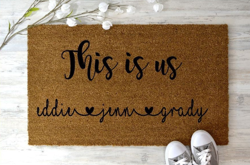 This is Us Doormat, Blended Family Welcome Mat, welcome mat- custom - Home Decor Family doormat