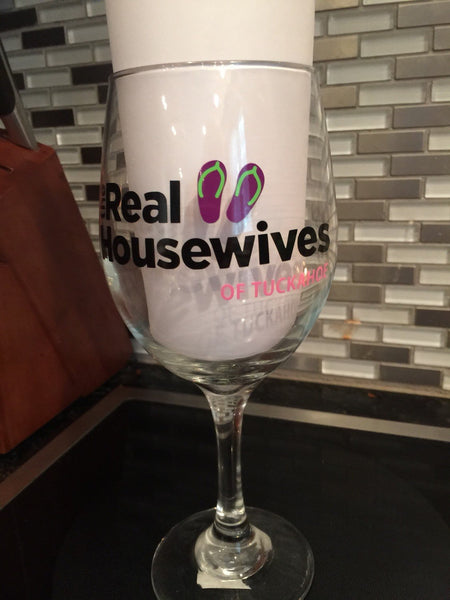 Wine Glass Real Housewives Wine Glass, personalized with any city or town, 20 oz. EX, Great gift, reality TV wine glass, bachelorette