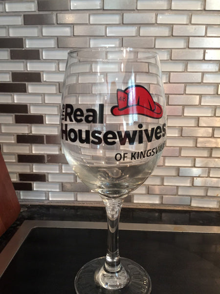 Custom Wine Glass, Personalized Glass, Real Housewives, Bachelorette Glass, Custom Stemware, Reality TV Glass, Unique Wine Glass