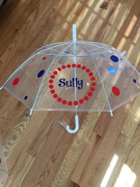 Monogrammed umbrella, boys child size, personalized Umbrella, great gift, Monogram Umbrella