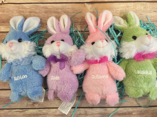 Personalized Easter Egg and Easter Bunny Babies First Easter Stuffer Stuffie chick Egg, jumbo Egg, easter Basket Stuffer