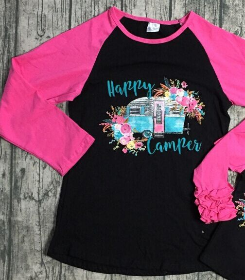 Happy Camper Raglans Mother/Daughter Matching Sets