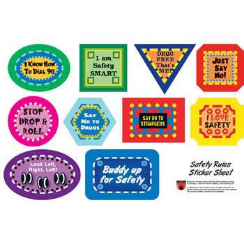Safety Rules Sticker Sheets 25 pack*