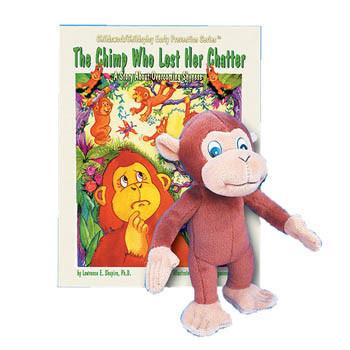The Chimp Who Lost Her Chatter Book & Plush Chimp
