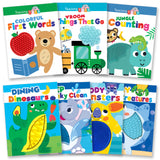 Sensory Silicone Touch and Feel Board Books Collection (Set of 7)