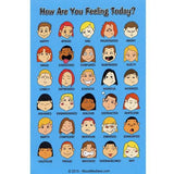 Mini Feelings Poster with Colored Graphics Set of 12