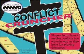 Play-2-Learn Dominoes: Conflict Cruncher Dominoes