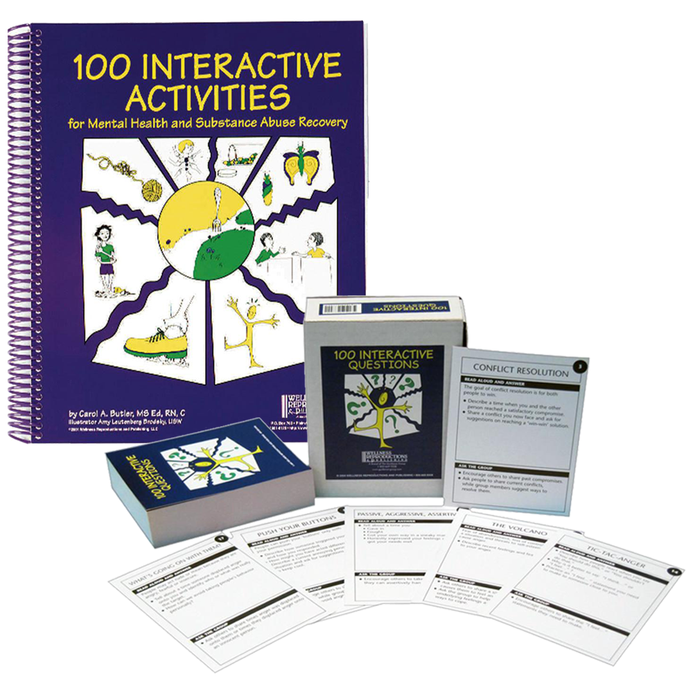 100 Interactive Activities for Health and Substance Abuse Recovery Set