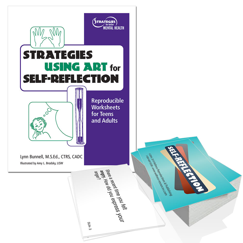 Strategies for Using Art for Self Reflection Book and Cards Set