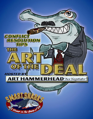 Smart Sharks Art of the Deal: CONFLICT RESOLUTION Tips Card Game