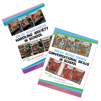Social Skills Comics- Conversation & Anxiety: Set of 2 Books