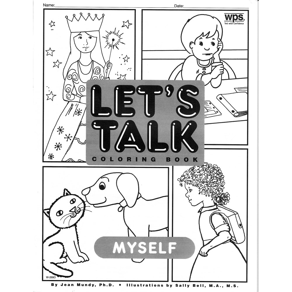 Let's Talk Coloring Book - Myself, set of 6