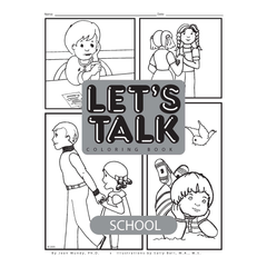 Let's Talk Coloring Book - School, set of 6