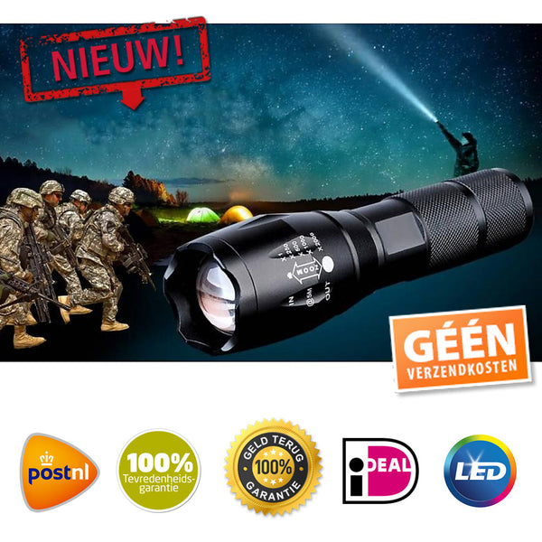 Extreme Militaire Zaklamp met Zoom
