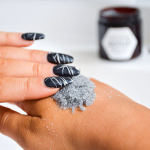 lemon charcoal scrub