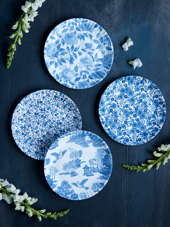 Bristol Blue Garden Plates, Set of 4