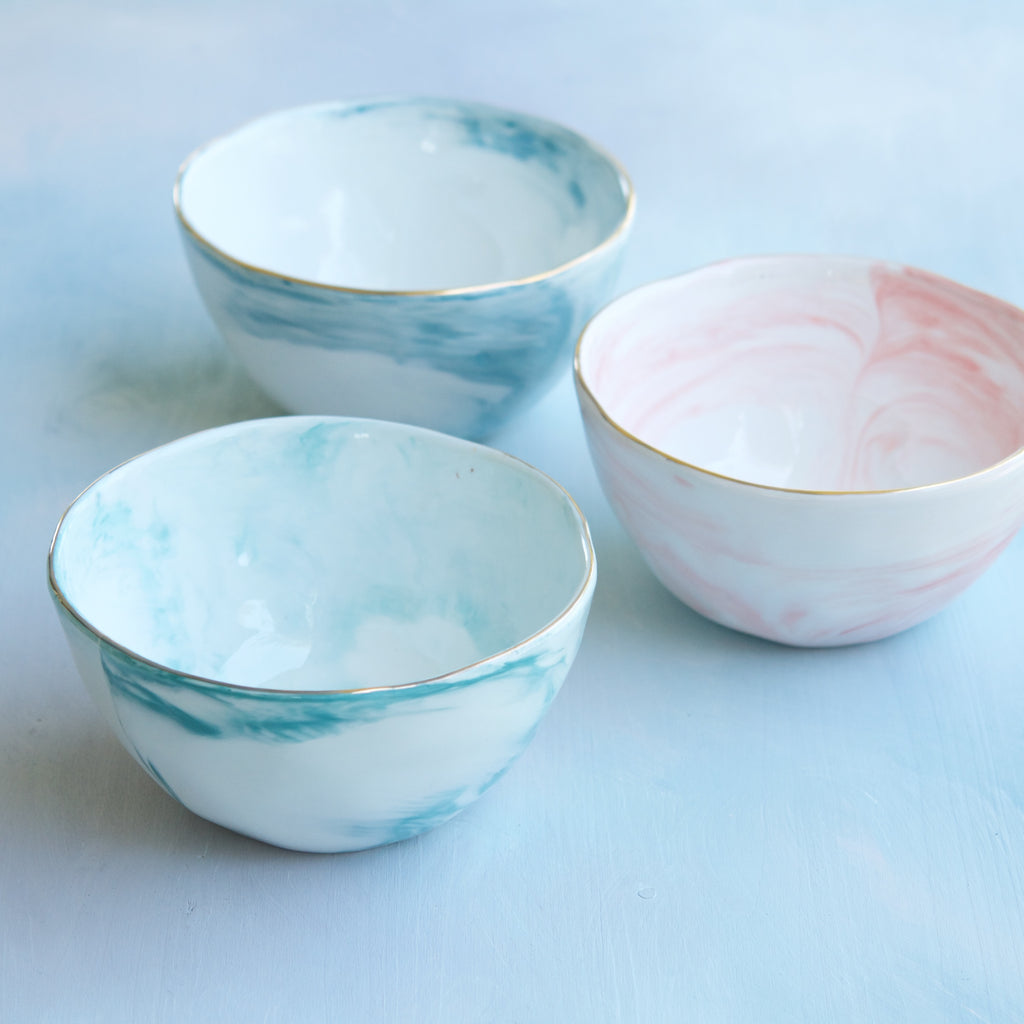 Marble Meringue Bowls, Set of 6