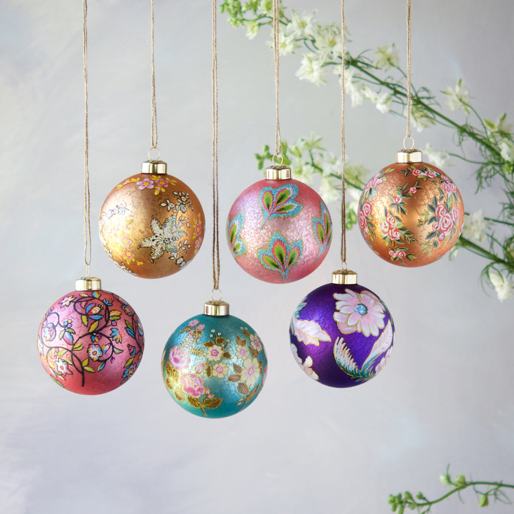 Parisian Pattern Ball Ornament