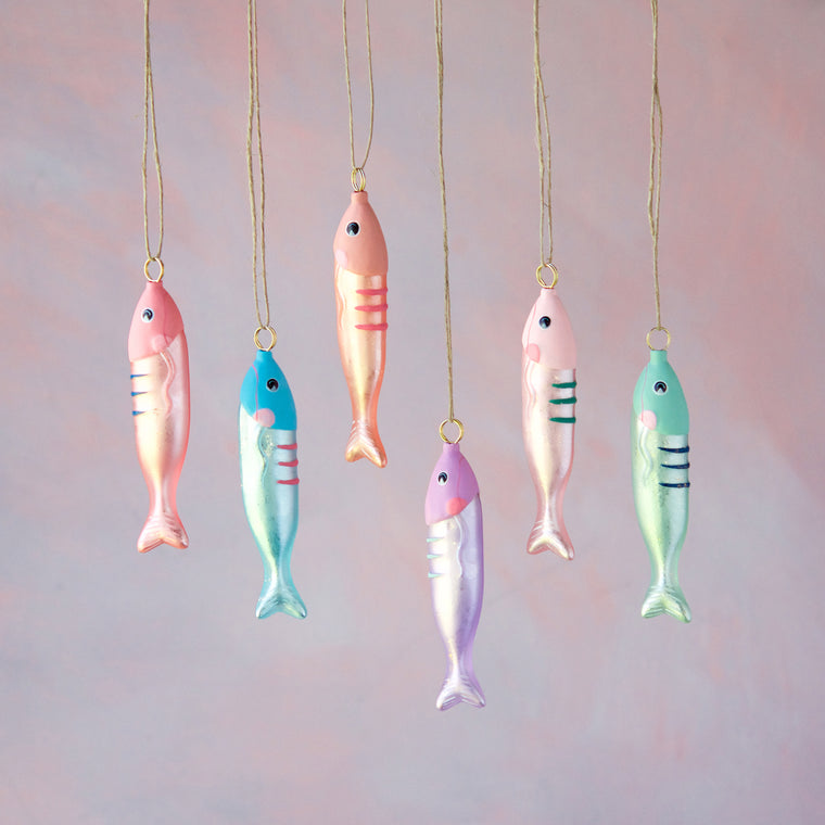 Minnow Ornament (6 Assortment)