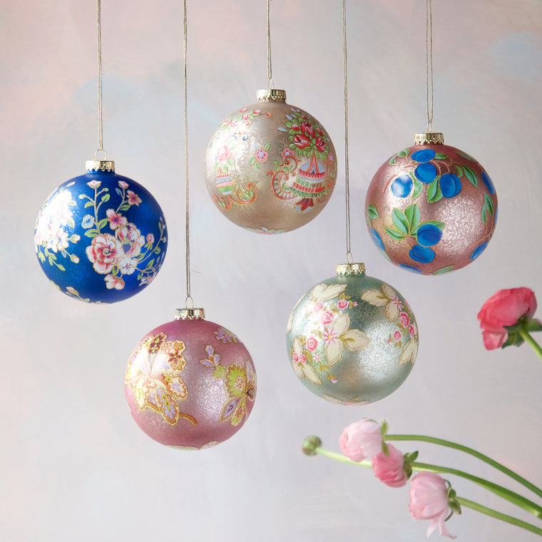 XL Parisian Pattern Ball Ornament (5 Assortment)