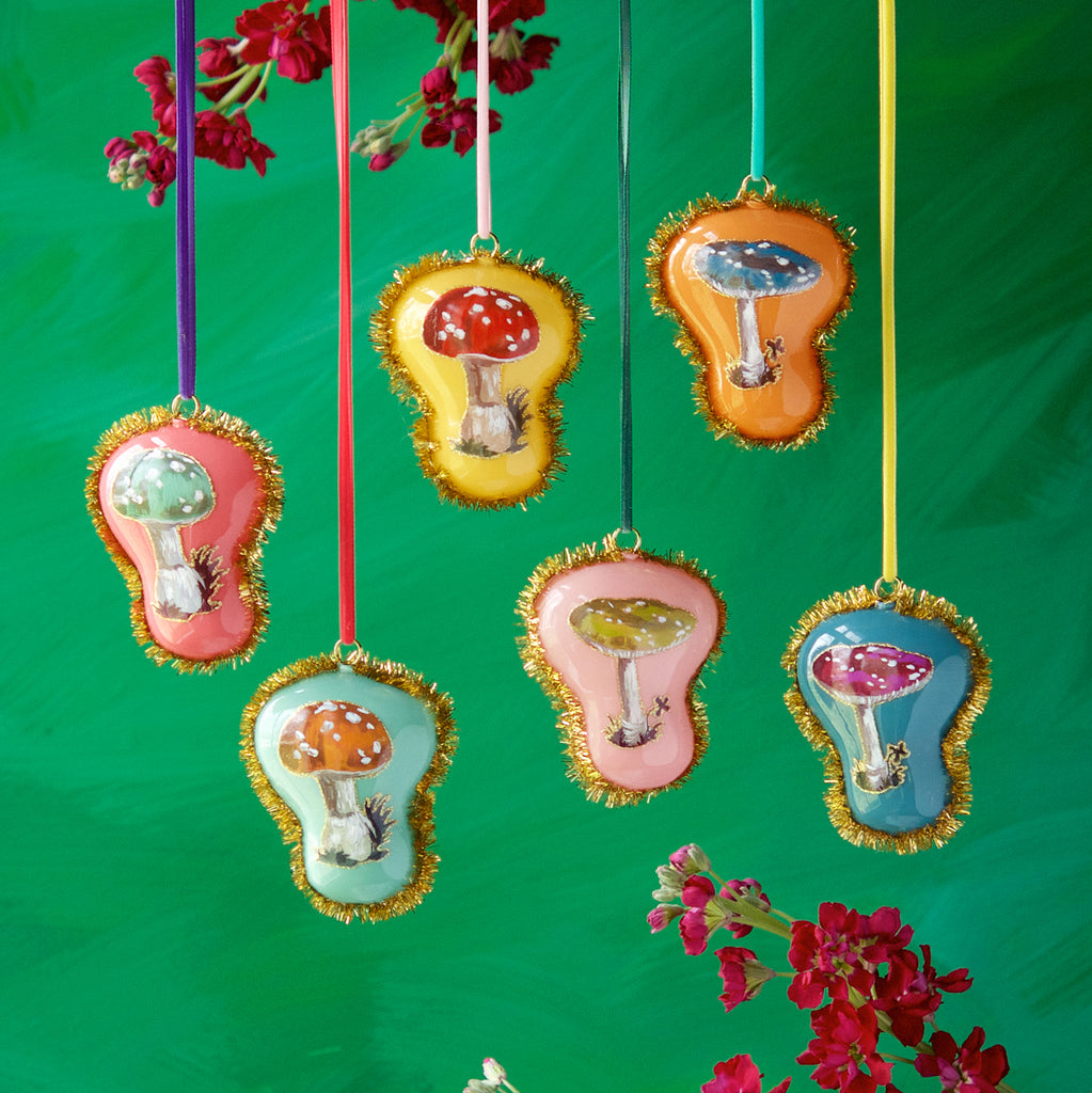 Nathalie Lété Mushroom Ornament (Assortment 6)