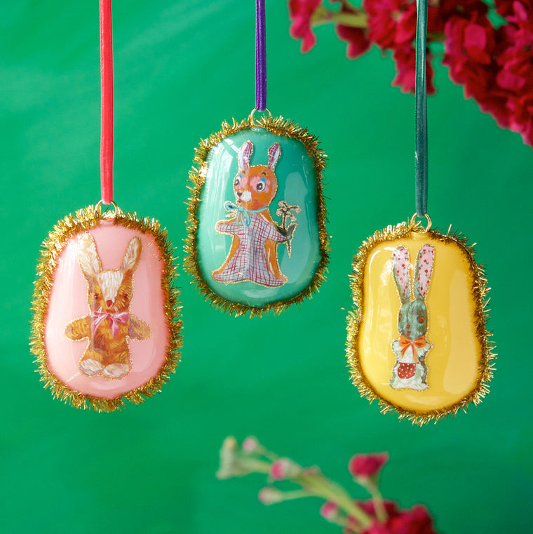 Nathalie Lété Pillow Bunny Ornament (3 Assortment)