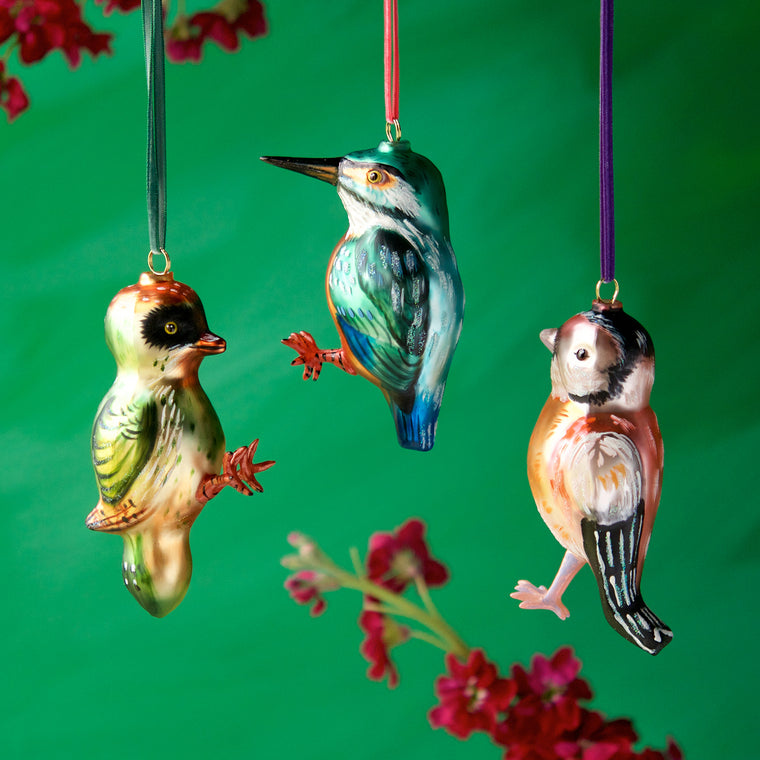 Nathalie Lété Bird Ornaments (3 Assortment)