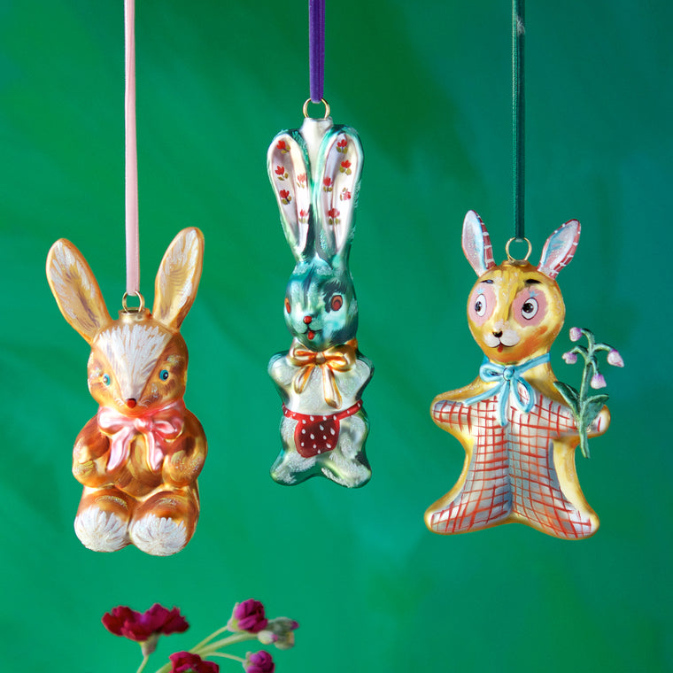Nathalie Lété Bunny Ornament (3 Assortment)