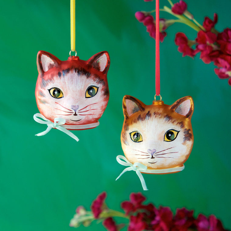 Nathalie Lété Cat Head Ornament (2 Assortment)