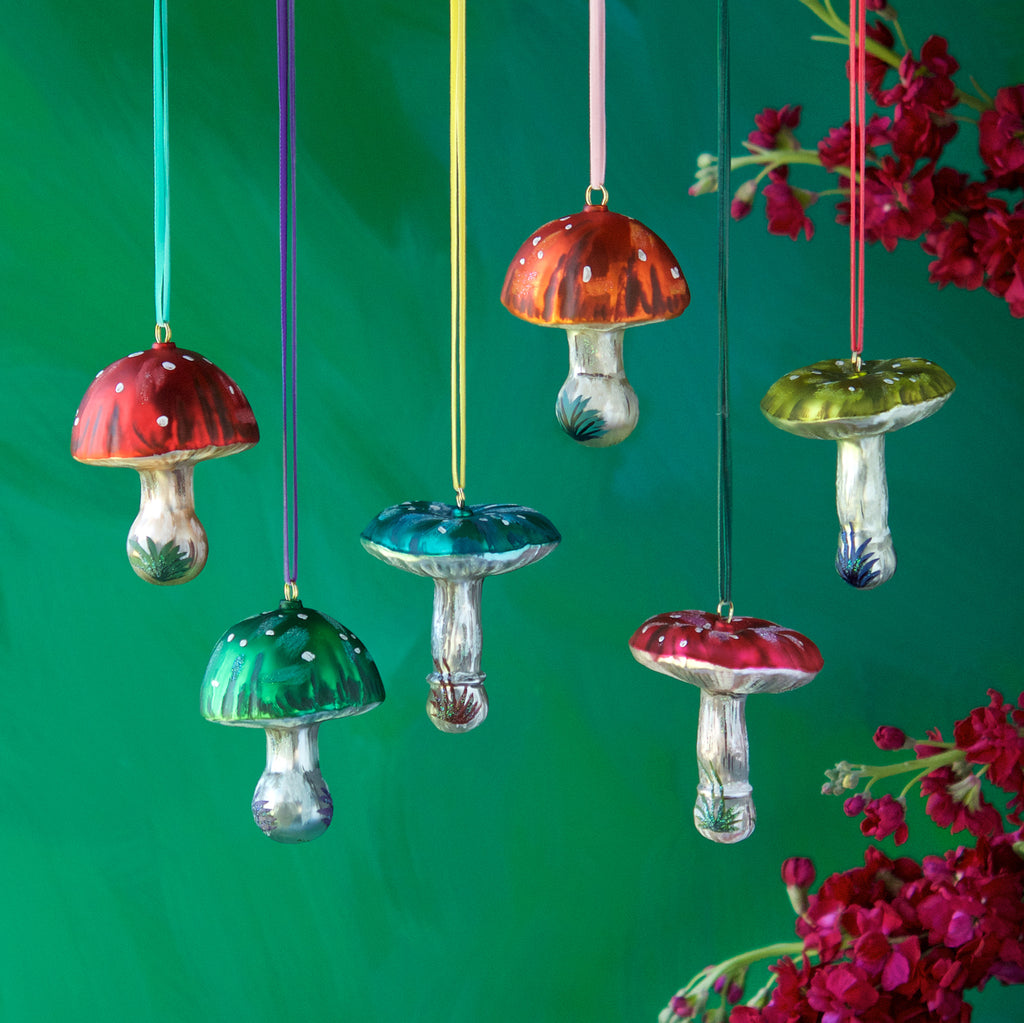 Nathalie Lété Mushroom Ornament (6 Assortment)