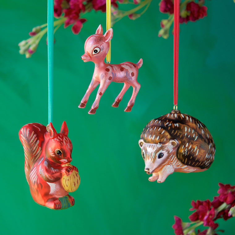 Nathalie Lété Woodland Animal Ornament (3 Assortment)