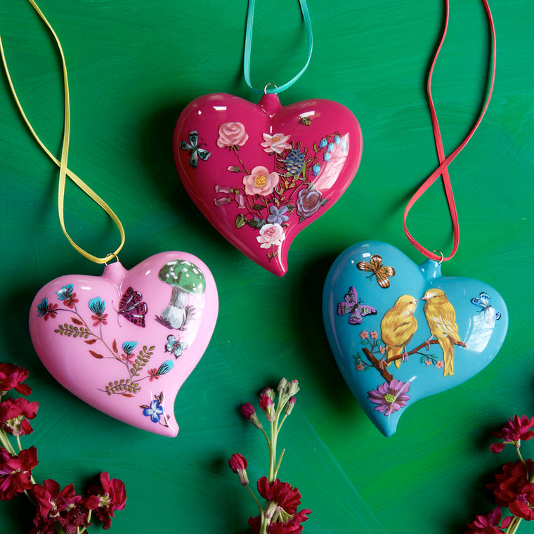 Nathalie Lété Heart Ornament Large (3 Assortment)