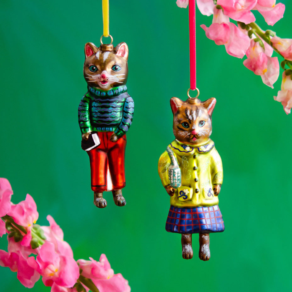 Nathalie Lété Cat Couture Ornaments