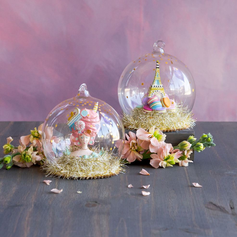Marie AntoiSweet & Eiffel Tower Dome Ornament