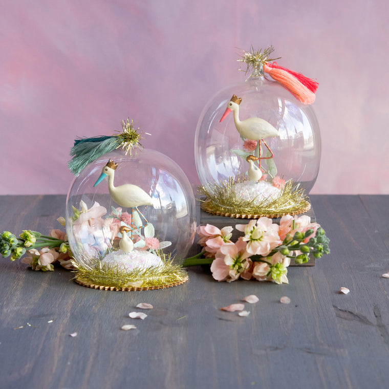 Royal Stork Dome Ornament