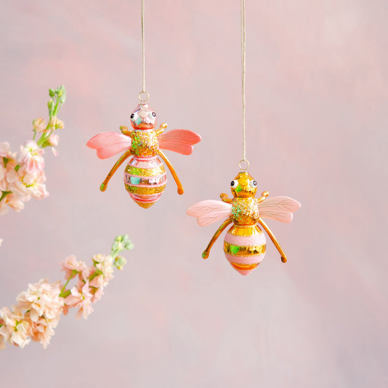 Pinky Pollinator Ornaments