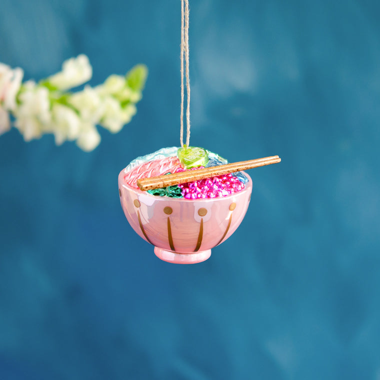 Pink Poke Bowl Ornament