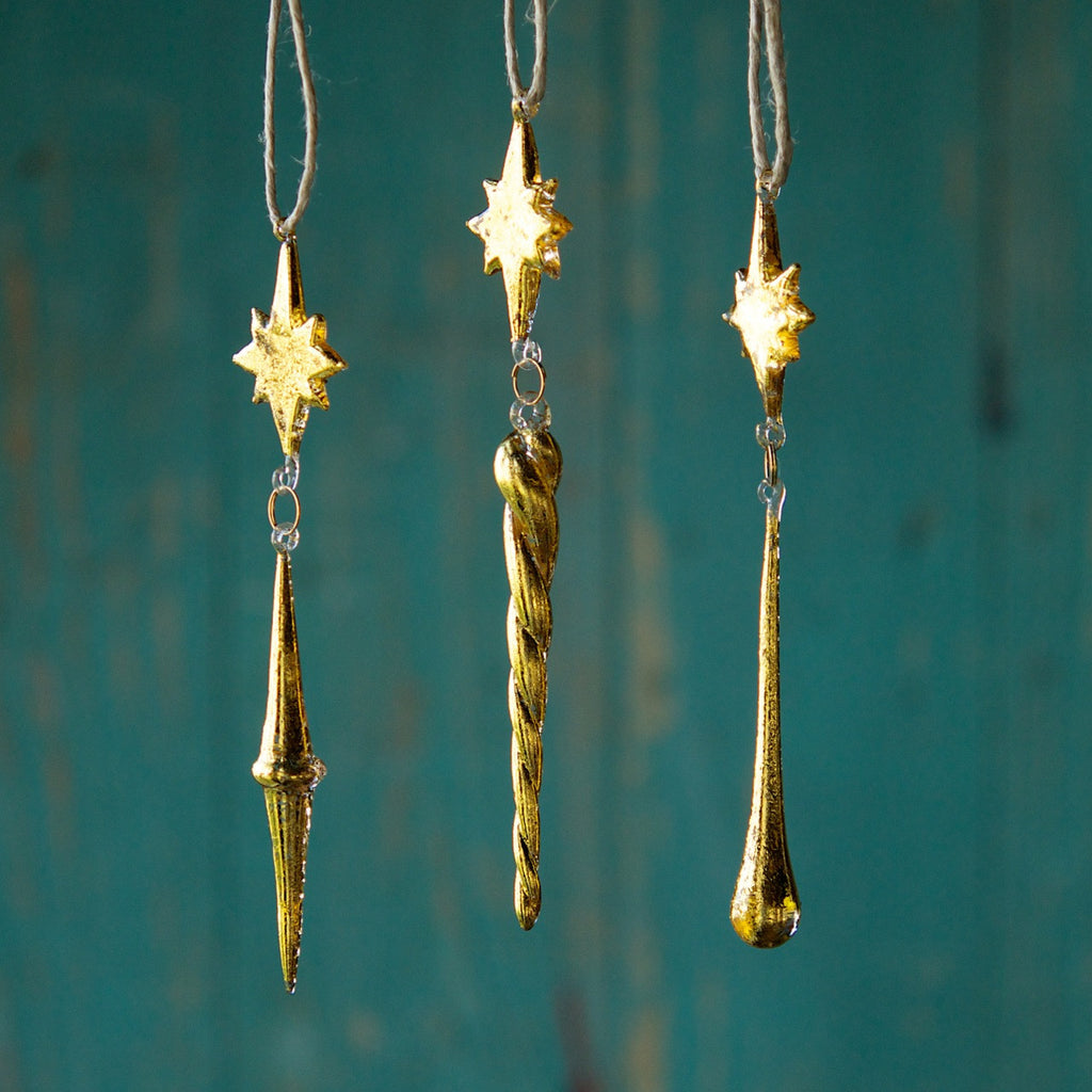 Star Dangle Ornaments, Set of 3