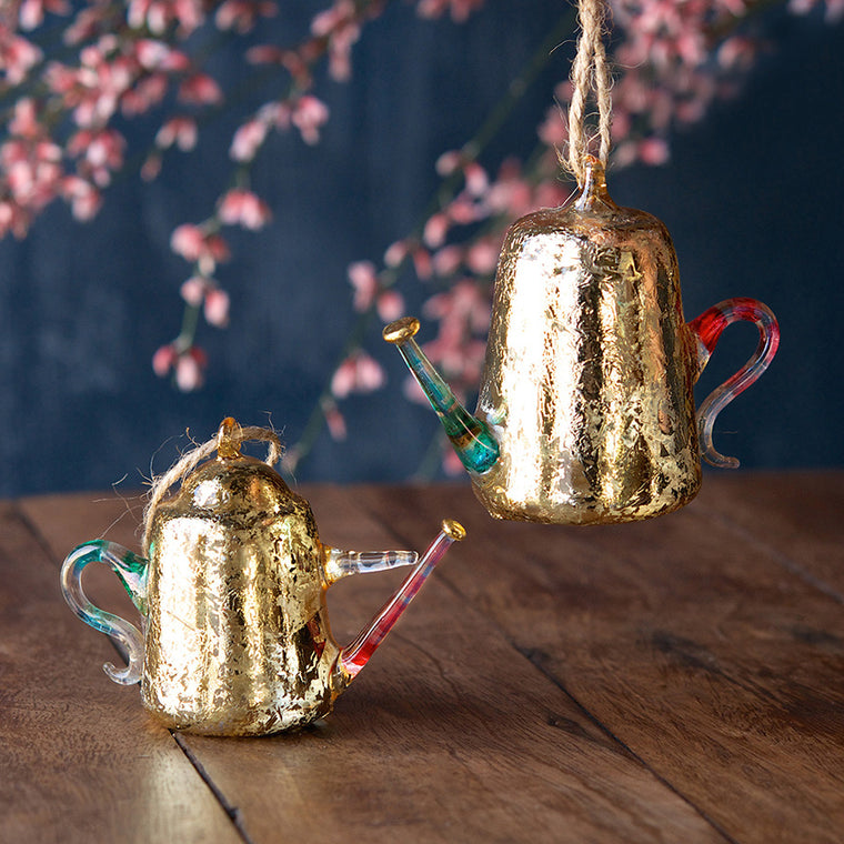 Gilded Watering Can Ornament