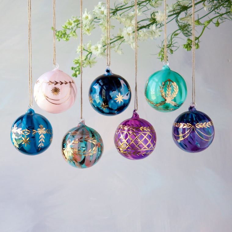 Etched Ball Ornament